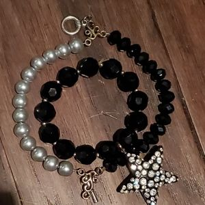 Black and White Bracelet Duo